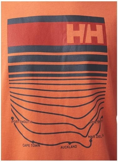 Helly Hansen Helly Hansen Erkek Turuncu Polo Yaka T-Shirt Oranj